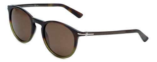 Gucci Designer Sunglasses GG1110-M06 in Havana Green Brown Lens