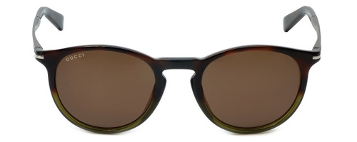 Gucci Designer Sunglasses GG1110-M06 in Havana Green Brown Lens