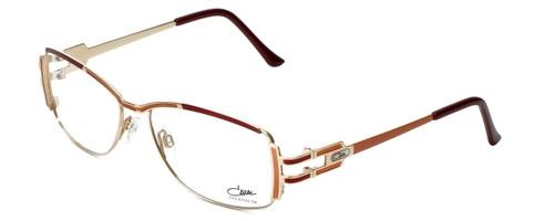 Cazal Designer Reading Glasses 1084-001 in Gold-Red 56mm
