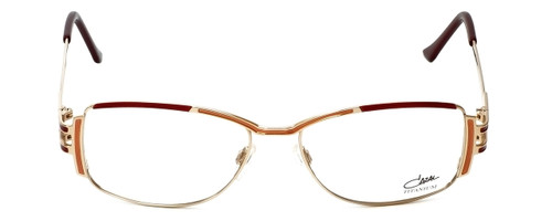 Cazal Designer Reading Glasses 1084-001 in Gold-Red 56mm