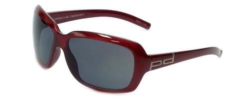 Porsche Designer Sunglasses P8521-C in Red with Grey Lens
