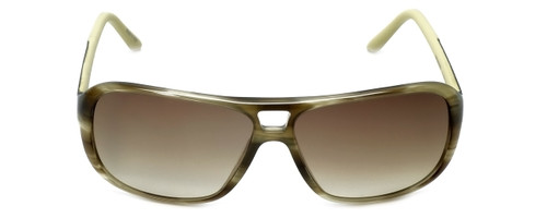 Porsche Designer Sunglasses P8557-B in Olive-Striped with Brown-Gradient Lens