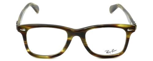 Ray-Ban Designer Eyeglasses RB5317-5385 in Striped-Green-Havana 52mm :: Custom Left & Right Lens