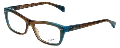 Ray-Ban Designer Eyeglasses RB5255-5490 in Azure-Blue-Brown 51mm :: Rx Single Vision