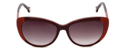 Carolina Herrera Designer Sunglasses SHE648-OGEV in Burgundy Rose Gradient Lens