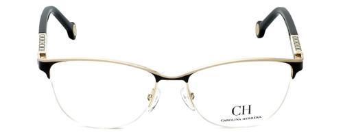 Carolina Herrera Designer Eyeglasses VHE079K-0SNQ in Black-Ivory 53mm :: Custom Left & Right Lens