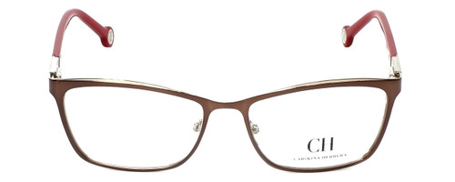 Carolina Herrera Designer Reading Glasses VHE083K-0482 in Brown 54mm