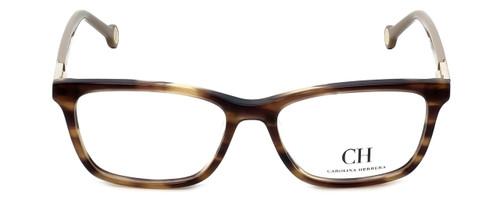 Carolina Herrera Designer Reading Glasses VHE673K-06HN in Light-Havana 53mm