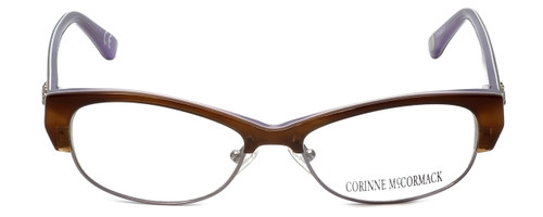 Corinne McCormack Designer Eyeglasses Delancey in Stripe-Demi 53mm :: Custom Left & Right Lens