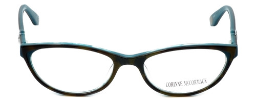 Corinne McCormack Designer Eyeglasses Riverside in Tortoise-Teal 52mm :: Custom Left & Right Lens