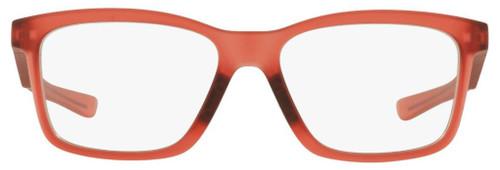 Oakley Designer Eyeglasses Fenceline OX8069-1053 in Frosted-Red 53mm :: Rx Single Vision