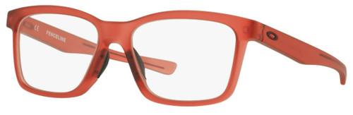 Oakley Designer Eyeglasses Fenceline OX8069-1053 in Frosted-Red 53mm :: Progressive