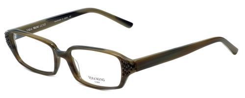 Vera Wang Designer Eyeglasses Soliloquy in Olive 51mm :: Custom Left & Right Lens