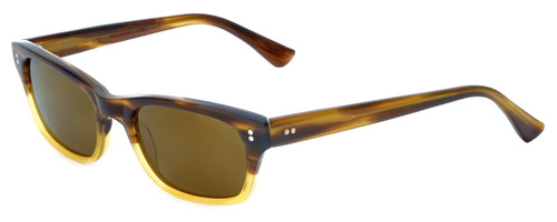 Reptile Designer Polarized Sunglasses Agamid in Brown-Stripe-Fade with Flash Mirror Lens