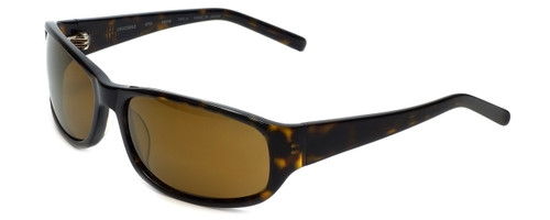 Reptile Designer Polarized Sunglasses Crocodile in Tortoise with Gold Mirror Lens