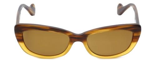 Reptile Designer Polarized Sunglasses Queen in Tortoise-Fade with Gold Mirror Lens