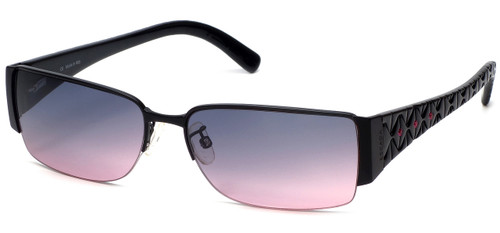 Escada Designer Sunglasses 517S in Black with Rose Gradient Lens