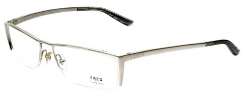 Fred Lunettes Designer Eyeglasses St. Moritz N1-002 in Silver 58mm :: Custom Left & Right Lens