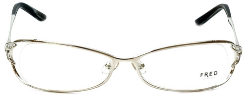 Fred Lunettes Designer Reading Glasses Volute N1-002 in Silver 53mm