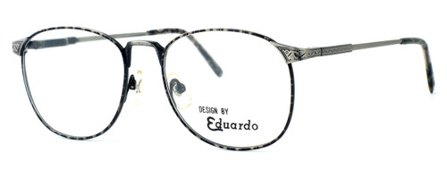 Fashion Optical Designer Reading Glasses E2038 in Grey Demi & Antique Pewter 51mm
