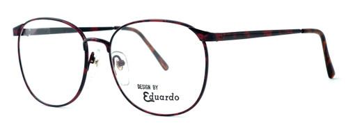 Fashion Optical Designer Reading Glasses E126 in Russet 56mm