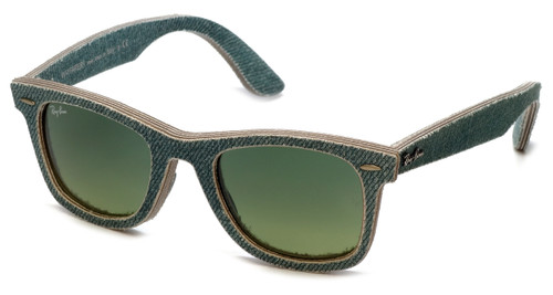 Ray-Ban ® 2140 1166/3M Designer Sunglasses Classic Wayfarer Special Edition Denim Color