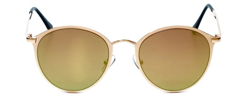 Gold Frame with Pink Tint/Gold Mirror Lens