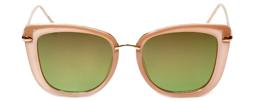 Pink/Gold Frame with Green Tint/Gold Mirror Lens
