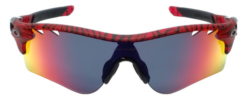 Oakley Designer Sunglasses Radarlock OO9206-35 in Urban Jungle Red and Red Iridium