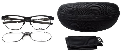 Oakley Designer Eyeglasses Crosslink-Float OX3221-0156 in Satin-Black 56mm :: Custom Left & Right Lens