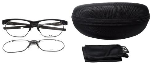 Oakley Designer Eyeglasses Crosslink-Float OX3221-0156 in Satin-Black 56mm :: Rx Single Vision