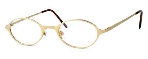 Regency International Designer Reading Glasses Mill 001 in Matte Gold 46mm