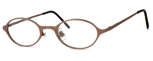 Regency International Designer Reading Glasses Mill 001 in Matte Brown 46mm