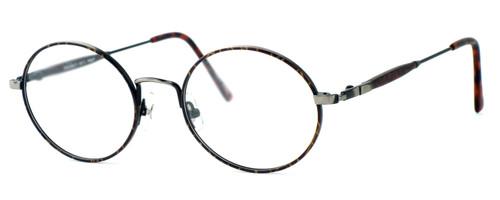 Regency International Designer Reading Glasses Prep in Dark Amber & Antique Silver 49mm