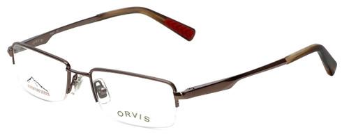 Orvis Designer Eyeglasses Hero in Brown 49mm :: Rx Single Vision