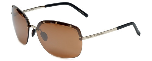Porsche Designer Sunglasses P8576-B in Gold with Brown Silver Mirror Lens