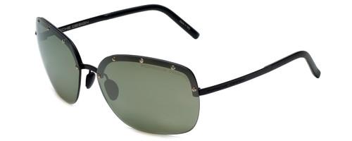 Porsche Designer Sunglasses P8576-C in Matte-Black with Olive Silver Mirror Lens