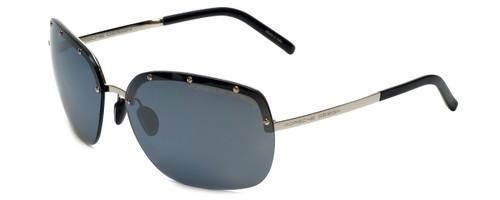 Porsche Designer Sunglasses P8576-D in Silver with Grey Silver Mirror Lens
