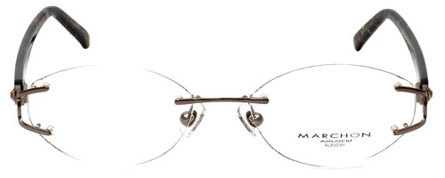 Marchon Designer Eyeglasses Airlock 830-211 in Brown 52mm :: Custom Left & Right Lens