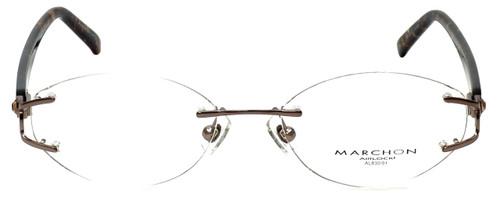 Marchon Designer Eyeglasses Airlock 830-211 in Brown 52mm :: Rx Single Vision