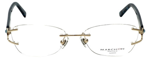 Marchon Designer Eyeglasses Airlock 830-219 in Gold 52mm :: Progressive