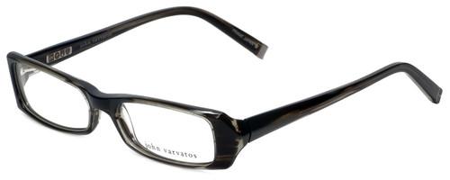 John Varvatos Designer Reading Glasses V303 in Black-Horn 52mm