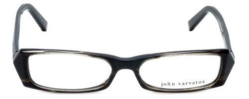 John Varvatos Designer Reading Glasses V303 in Black-Horn 52mm