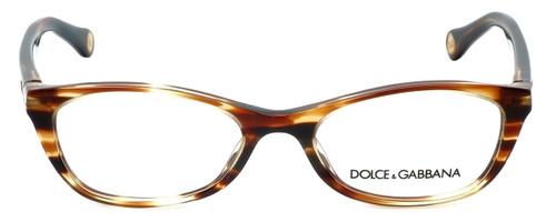 Dolce & Gabbana Designer Reading Glasses DD1218-1572 in Striped-Havana 49mm
