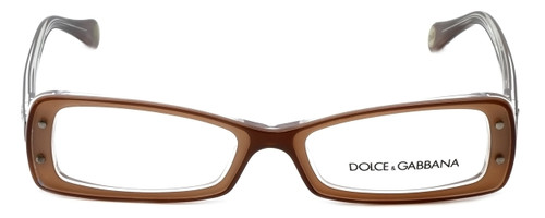 Dolce & Gabbana Designer Reading Glasses DD1227-1981 in Brown 49mm