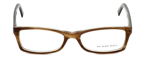 Burberry Designer Reading Glasses B2076-3083 in Striped Beige 50mm