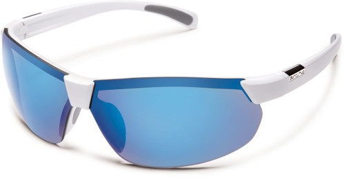 Suncloud Switchback Polarized Sunglasses, White & Blue Mirror Lens