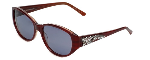 Judith Leiber Designer Sunglasses JL5002-06 in Ruby in Grey Lens