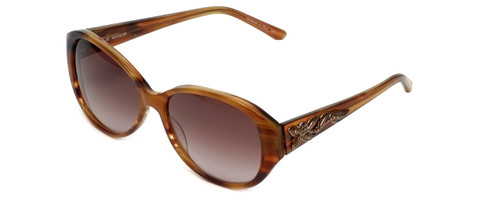 Judith Leiber Designer Sunglasses JL5003-02 in Topaz in Brown-Gradient Lens