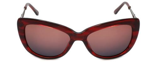 Judith Leiber Designer Sunglasses JL5008-06 in Burgundy in Burgundy-Gradient Lens